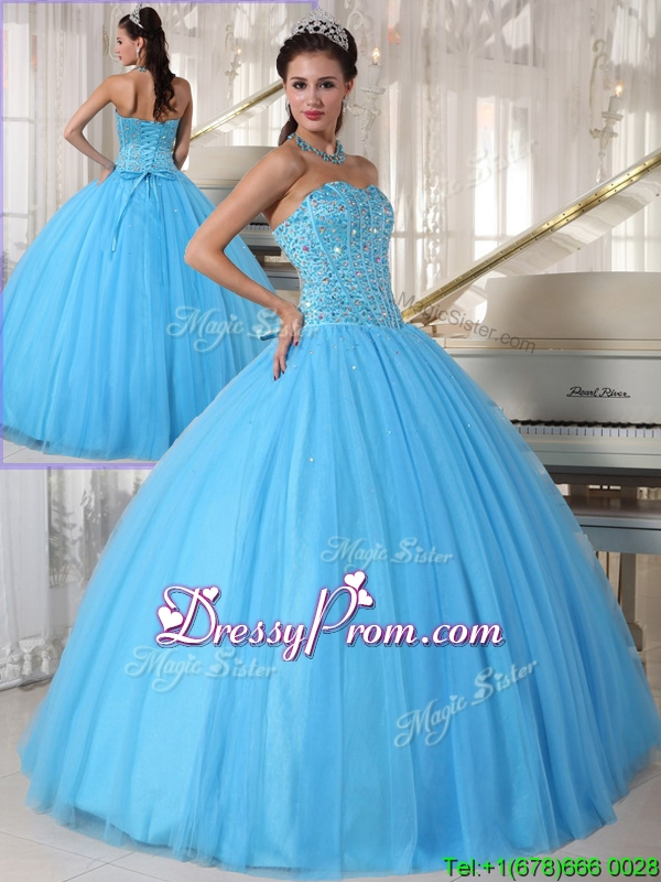 Exclusive Sweetheart Ball Gown Beading Sweet 16 Dresses