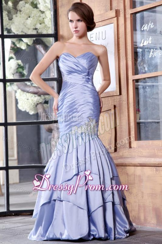 Lavender mermaid prom dress