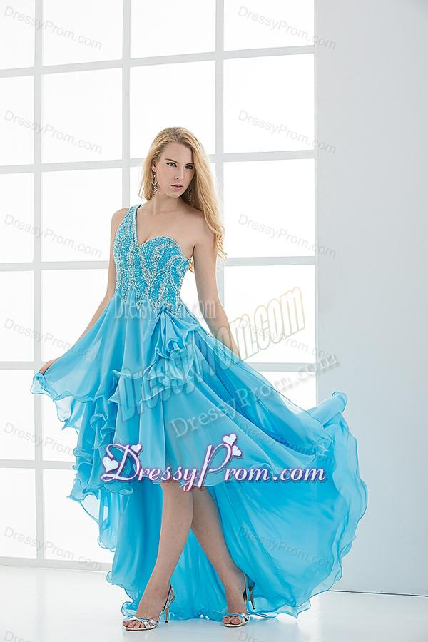 Big baby blue prom dresses