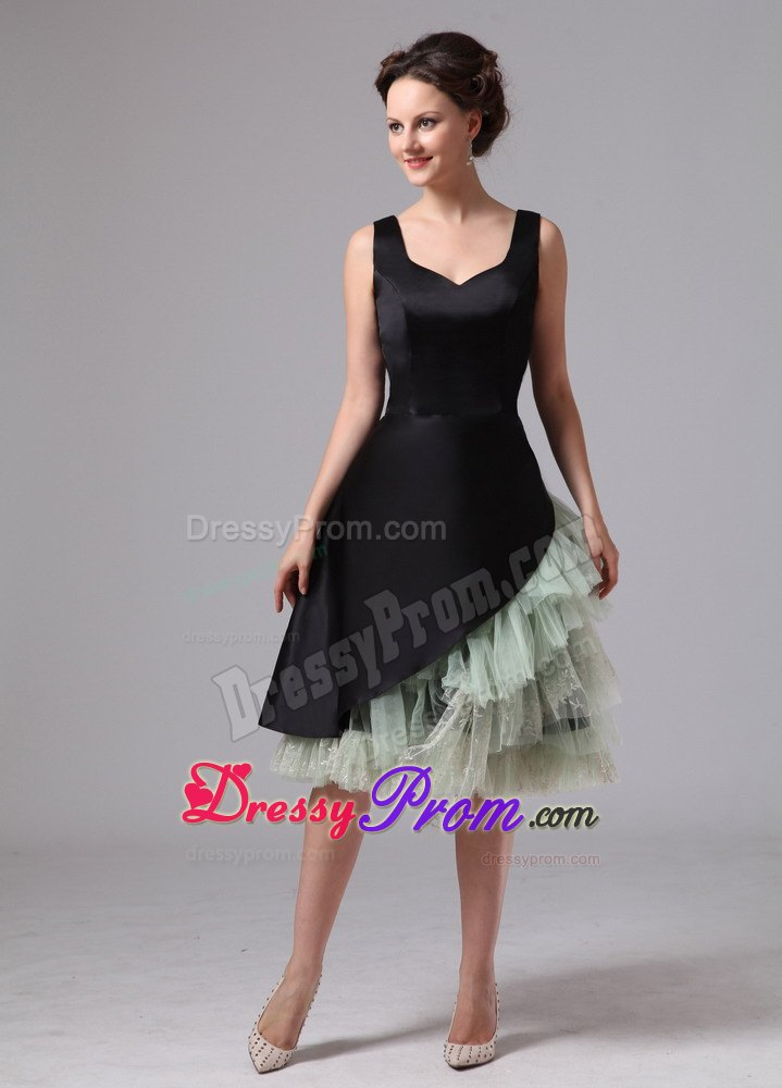 length Black and Green Beaded Prom Dress in West Sussex