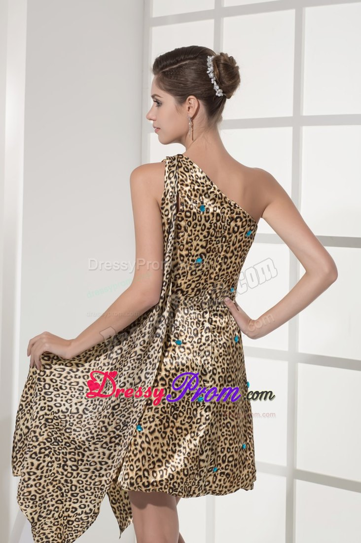 Accent one shoulder animal print prom cocktail dresses beading accent one shoulder animal print prom cocktail dresses ombrellifo Gallery
