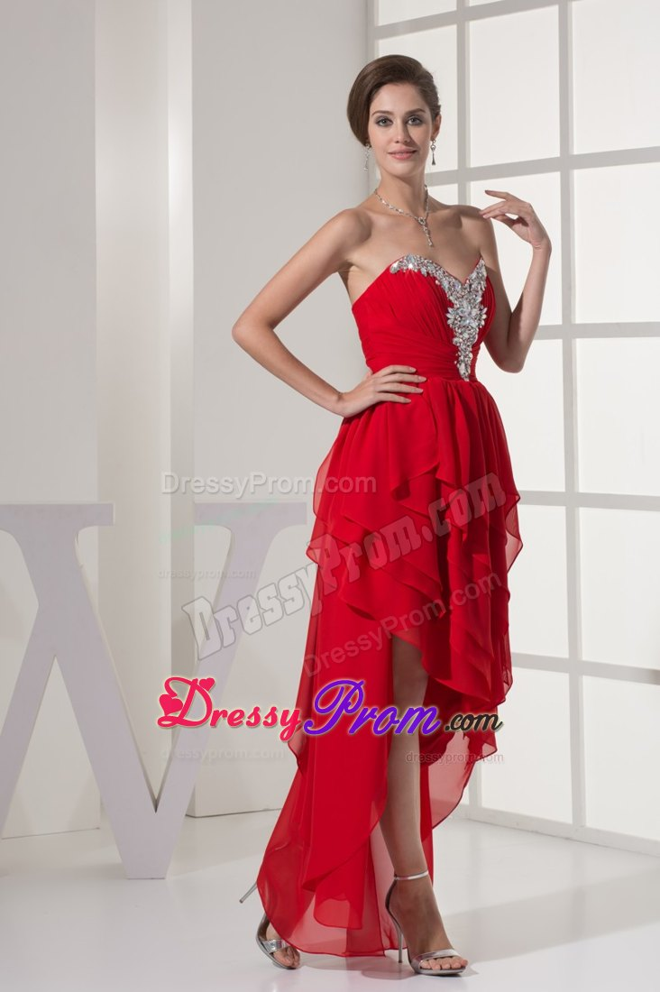 Images of Red High Low Prom Dresses - Vicing