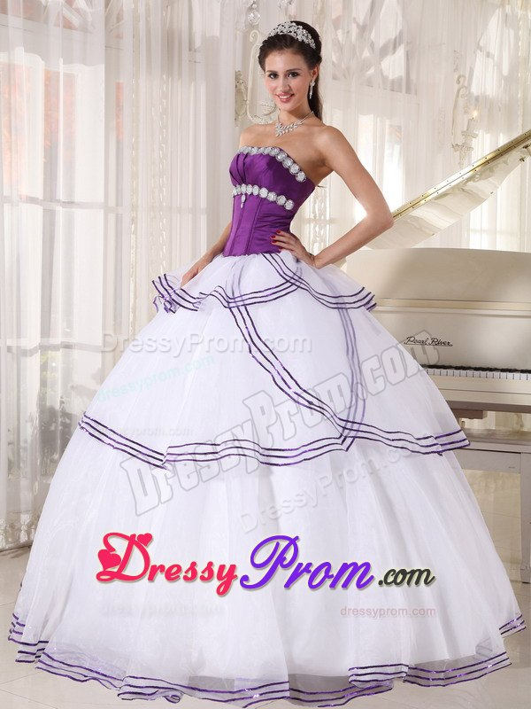 Recommended Purple and White Quinceanera Gown Dresses ... White And Purple Quinceanera Dresses
