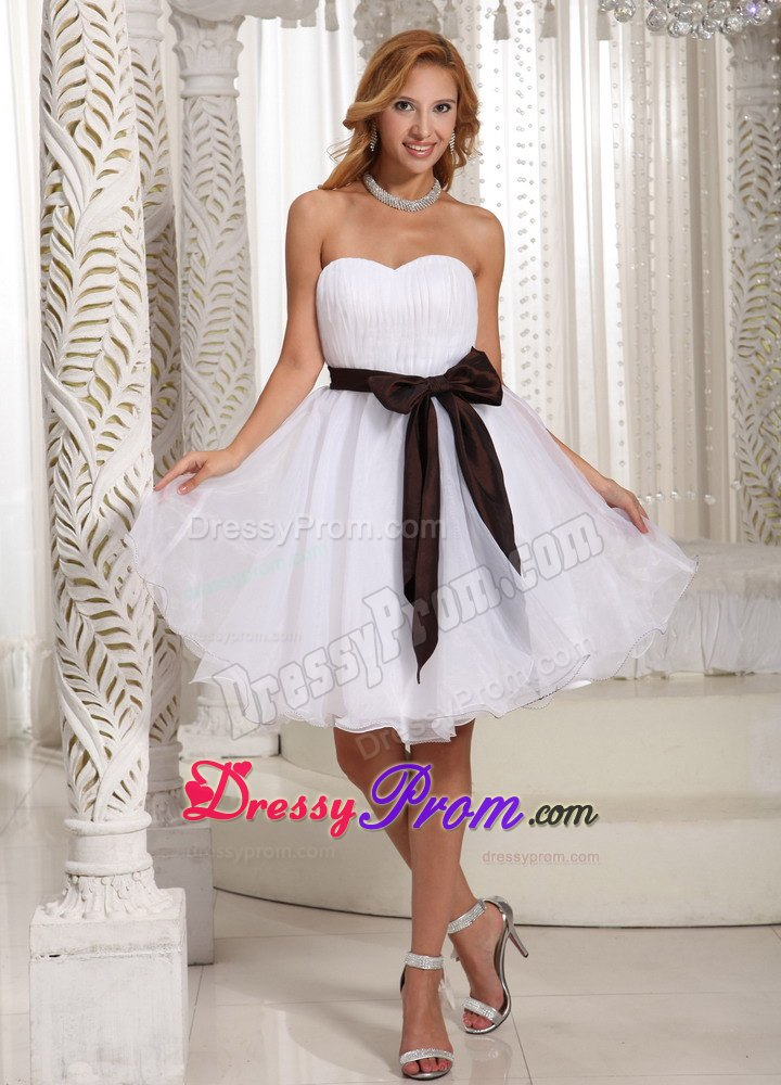 Short white prom dress 2014