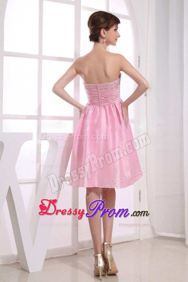Bakersfield CA Pink Prom Holiday Dress with Beading and Ruches