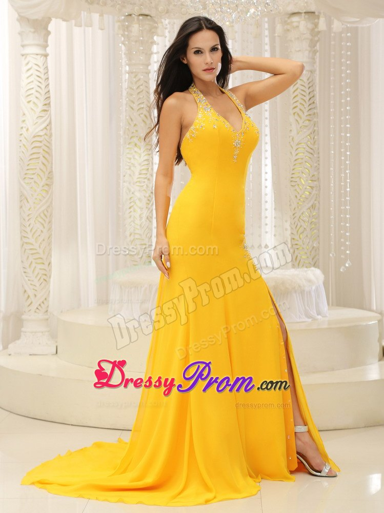 Yellow color dresses