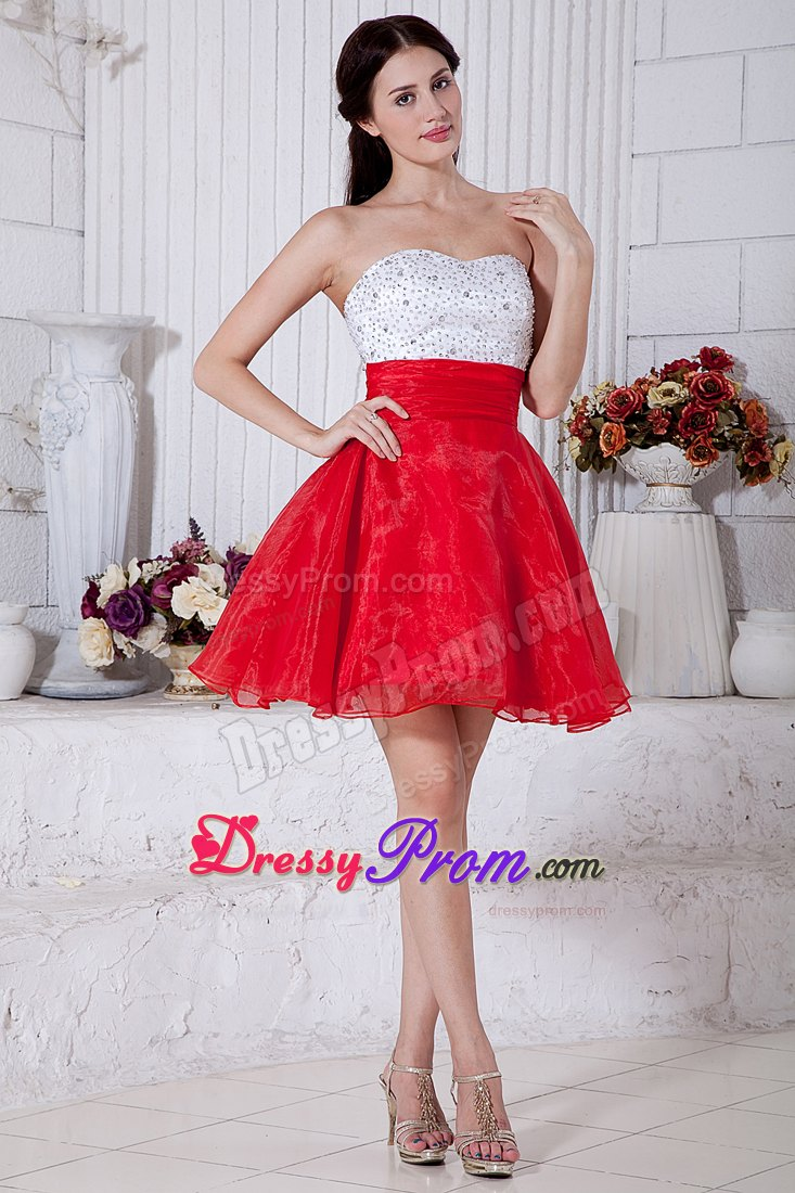 Red And White Dresses