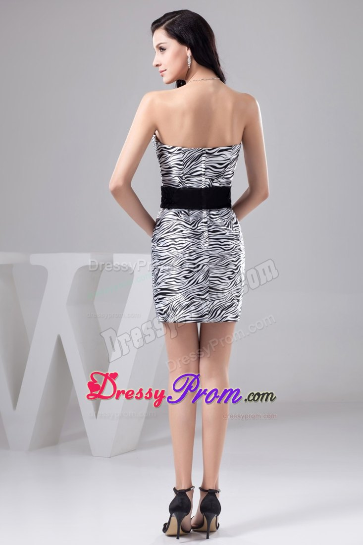 Prom dress zebra print pattern