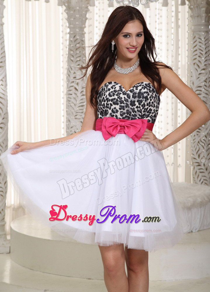 White And Hot Pink Prom Dresses - Prom Dresses Cheap