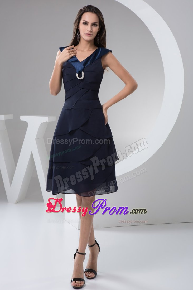 Short Navy Blue Prom Dresses