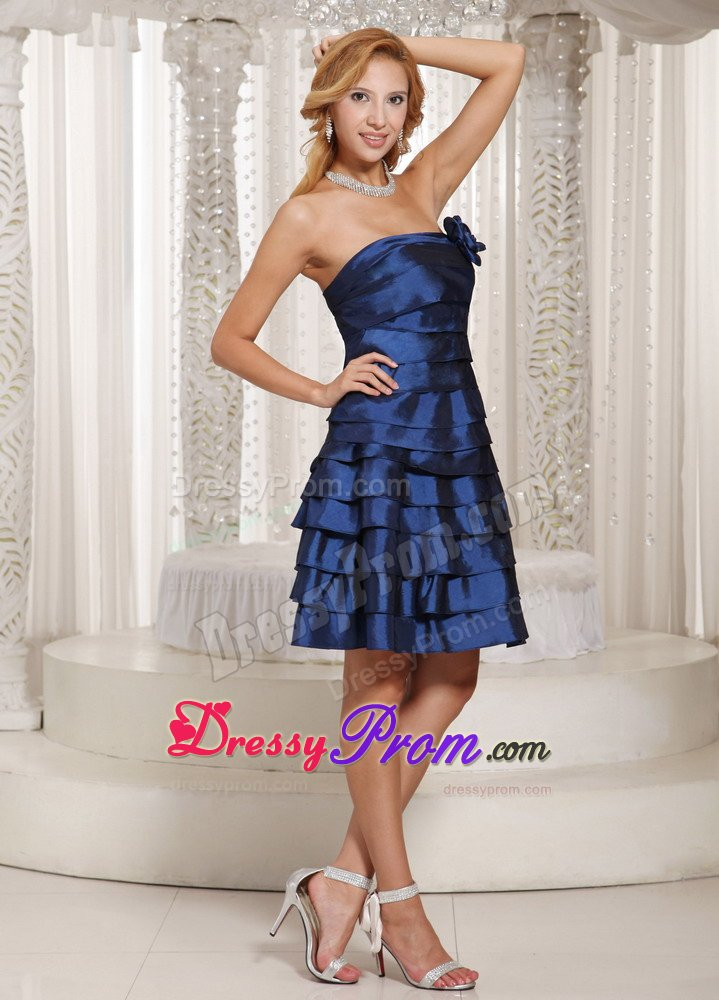 2014 Fall Navy Cocktail Dresses Navy Blue Prom Maxi Dress