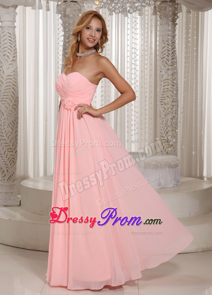 Fountain valley ca ruched chiffon prom holiday dress in for Baby pink wedding dress