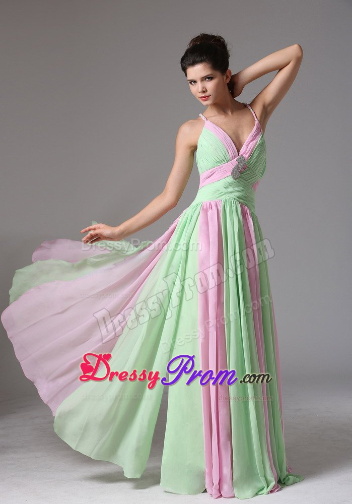 Green and Lilac Dresses
