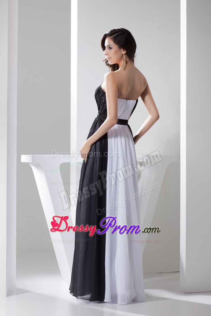 0015dc0c9753 Fashionable Zipper up Prom Evening Dresses Chiffon in Black and White