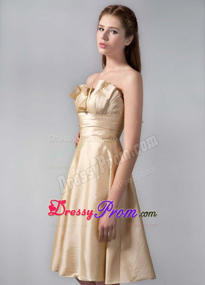 15 Dresses for Damas with Empire Hemline by Elastic Woven Satin