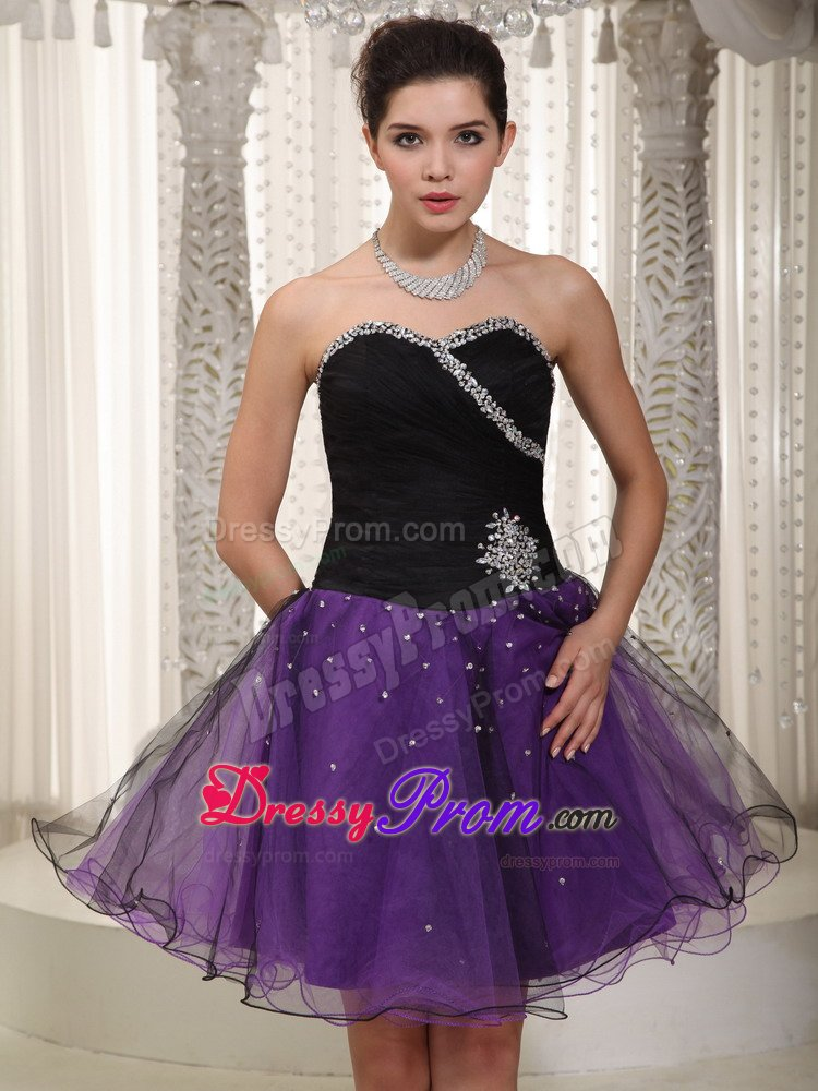 Black Bodice and Purple Skirt for Prom Dress In Derbyshire