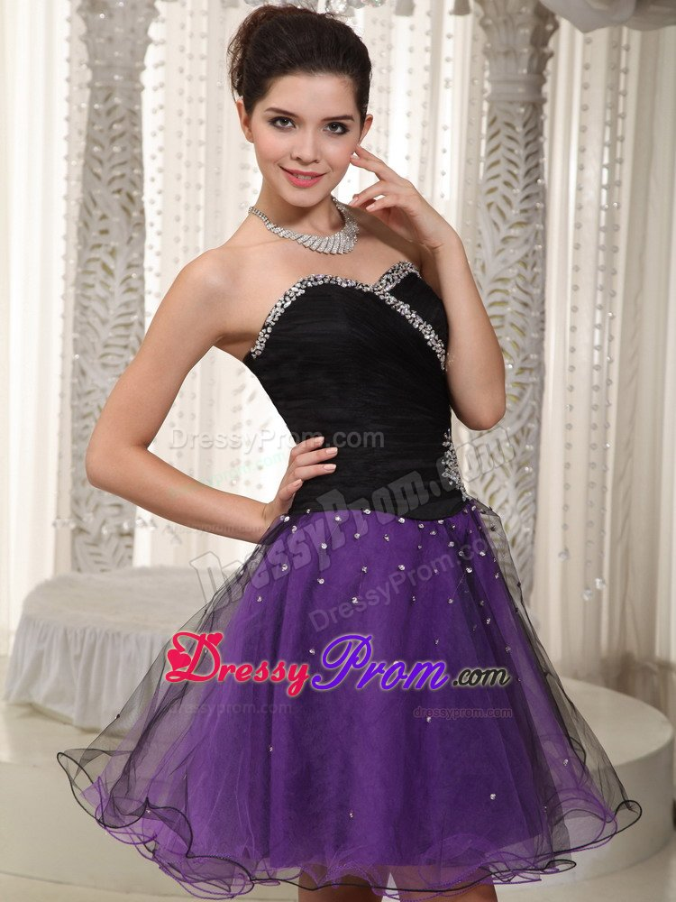 Beaded Black Bodice and Purple Skirt for Prom Dress In Derbyshire