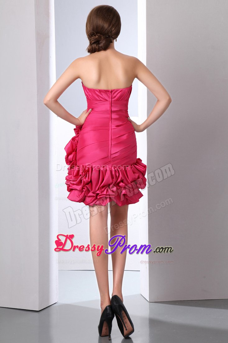 sweetheart ruched beaded coral red mini prom cocktail dress