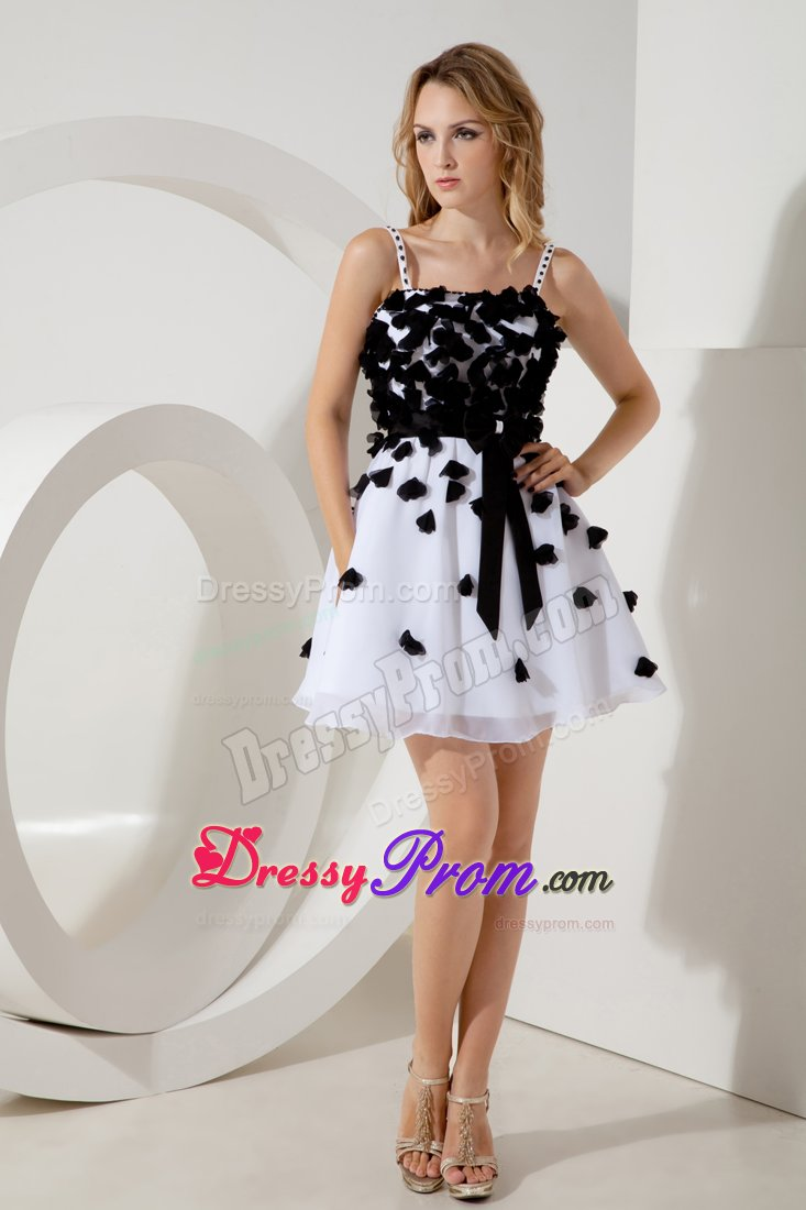 line Straps Junior Prom Homecoming Dress Sashes in White and Black