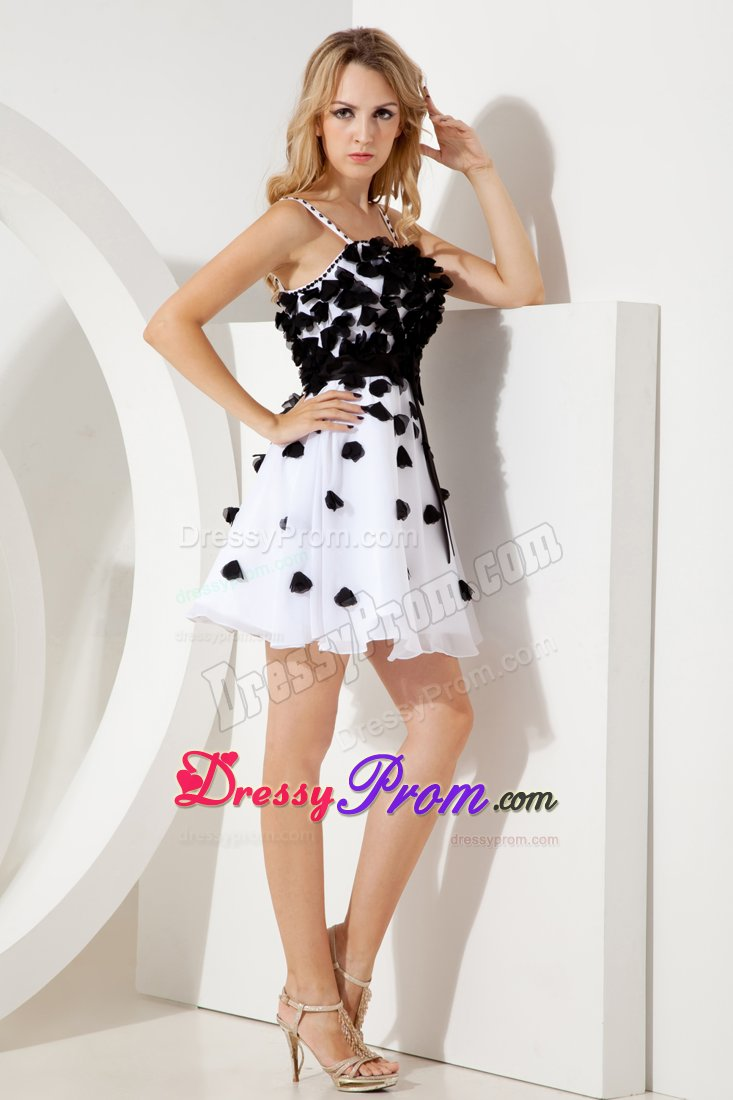 A Line Straps Junior Prom Homecoming Dress Sashes In White And Black