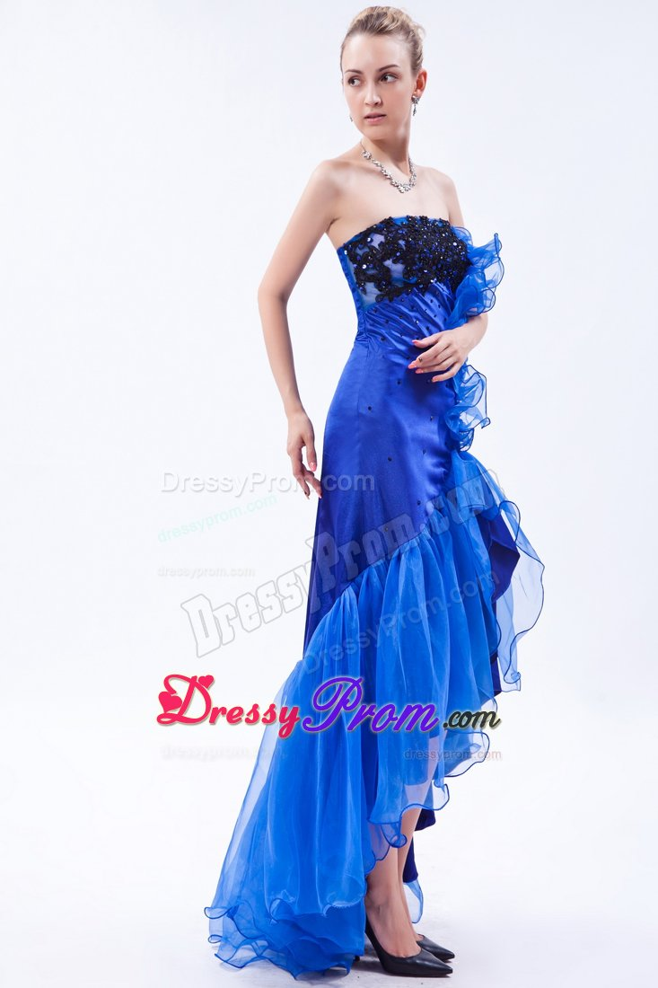 Blue And Black Prom Dresses