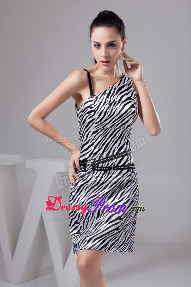 Zebra Short Prom Dresses 66