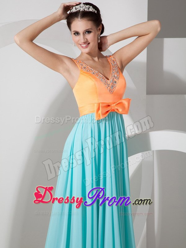 Think, that blue and orange prom dresses are not