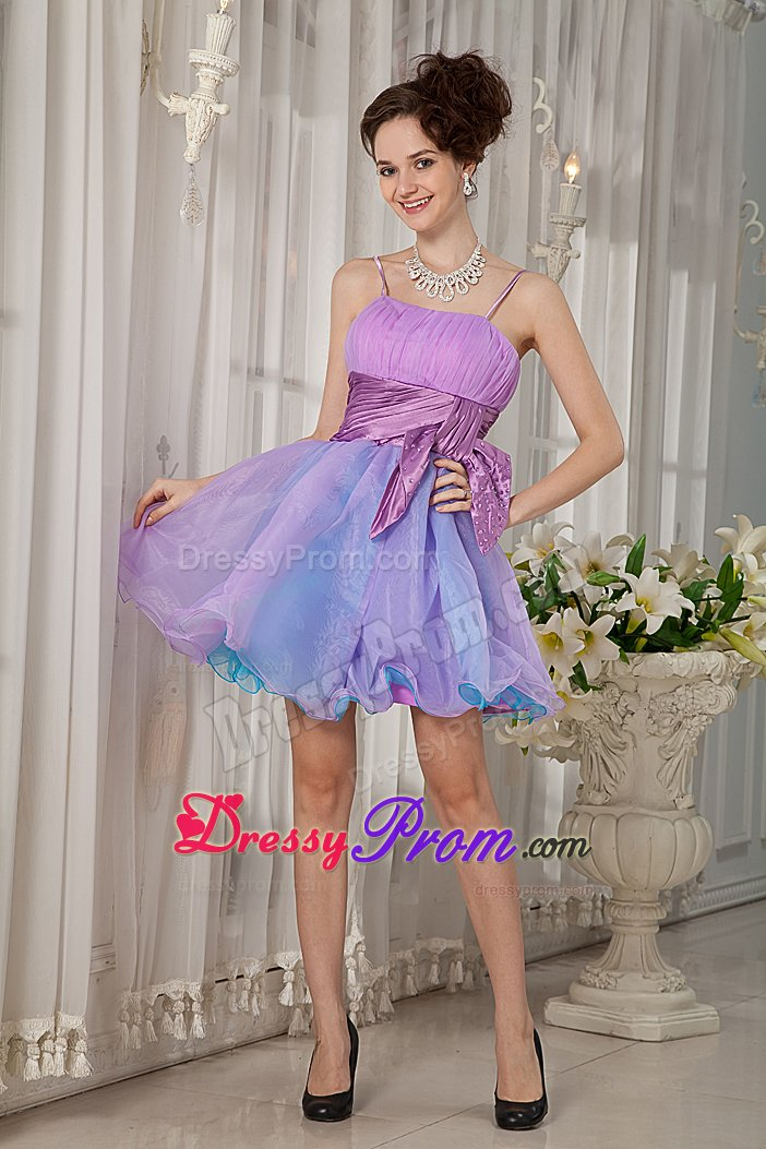 Colorful puffy short dresses