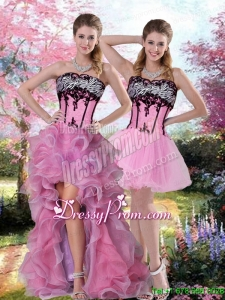 Cute Embroidery 2015 Knee Length Prom Skirts in Multi Color