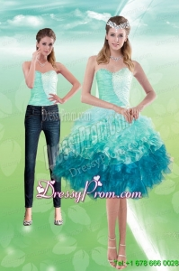 Elegant Sweetheart Multi Color 2015 Prom Skirts with Beading and Ruffles