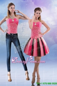 New Style 2015 Sweetheart Multi Color Prom Skirts with Beading