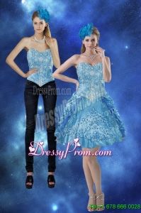 New Style 2015 Sweetheart Prom Skirts with Embroidery and Pick Ups