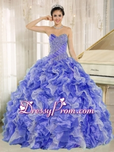 2013 Sweetheart Beautiful Quinceanera Dress with Beading and Ruffles