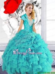2015 Fabulous Sweetheart Quinceanera Dresses with Beading and Ruffles