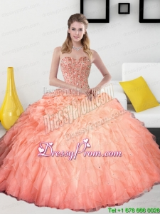 2015 Beading and Ruffles Sweetheart Exclusive Quinceanera Gowns