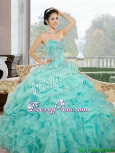 2015 Fabulous Sweetheart Quinceanera Dresses with Ruffles and Pick Ups
