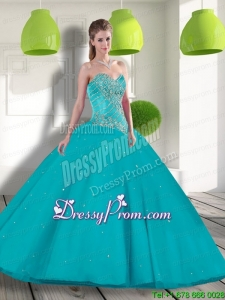 Exclusive Sweetheart 2015 Quinceanera Gowns with Beading and Appliques
