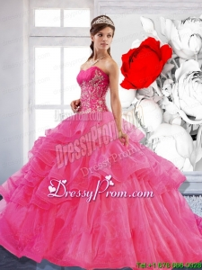 Exclusive Sweetheart Ball Gown 2015 Quinceanera Dress with Appliques