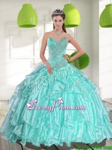 Custom Made Sweetheart Appliques and Beading Quinceanera Dresses