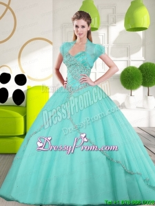 2015 Sweetheart Stylish Quinceanera Dresses Quinceanera Gown with Appliques