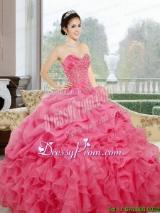 Ruffles and Pick Ups Sweetheart Stylish Quinceanera Dresses for 2015
