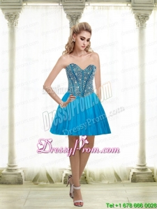 2015 Sexy A Line Sweetheart Prom Dress with Beading