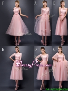 Most Popular Baby Pink Tulle Dama Dress in Tea Length