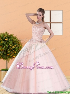 2015 Modern Ball Gown Quinceanera Dresses with Beading