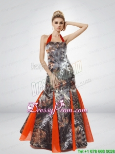 Beautiful Mermaid Halter Top 2015 Camo Prom Dresses