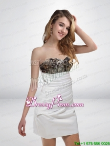 Popular 2015 Column Sweetheart Mini Length Camo Prom Dresses