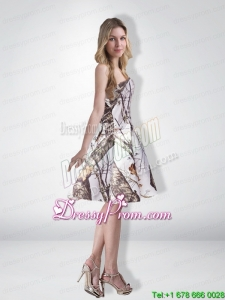 Popular Multi Color Strapless Knee Length Camo Prom Dresses