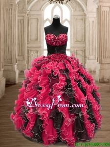 Luxurious Backless Sweet 16 Dress with Beading and Ruffles