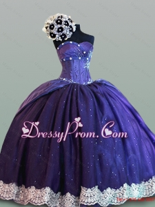 Modest Sweetheart Quinceanera Dresses with Lace for 2015