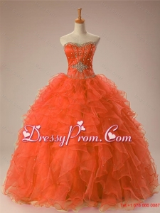 2015 Gorgeous Sweetheart Beaded Quinceanera Gowns in Organza